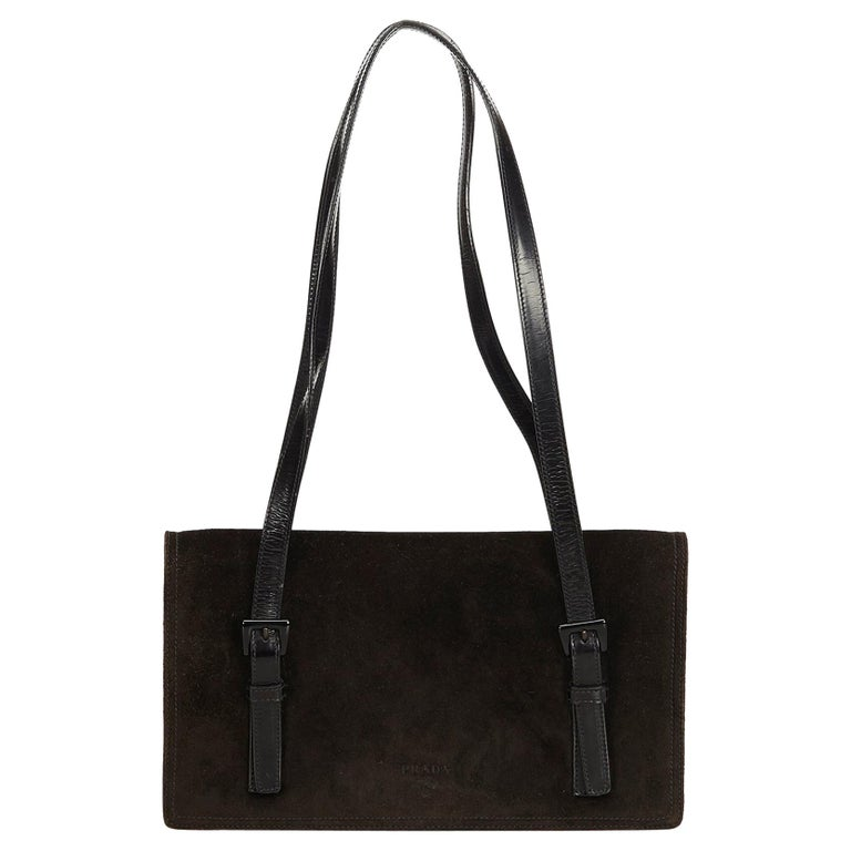 da13b3463d Prada Black Suede Shoulder Bag For Sale at 1stdibs