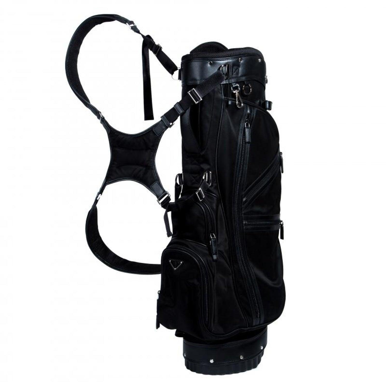 e6540cf751fb Prada Black Tessuto and Saffiano Leather Golf Bag For Sale at 1stdibs