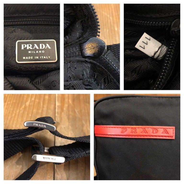 PRADA Black Tessuto Mini Crossbody Bag Unisex In Good Condition For Sale In Bangkok, TH