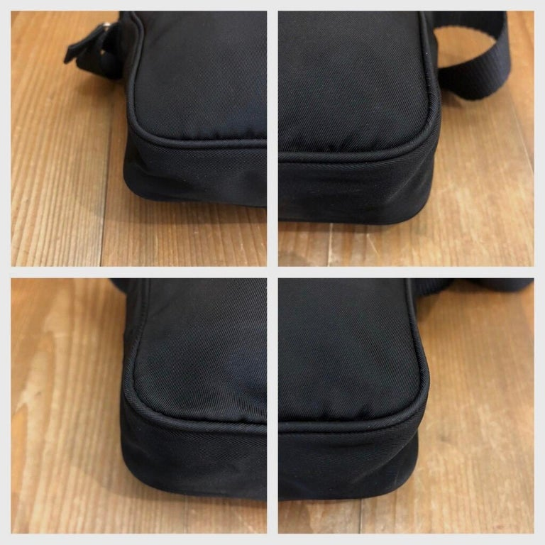 Women's or Men's PRADA Black Tessuto Mini Crossbody Bag Unisex For Sale