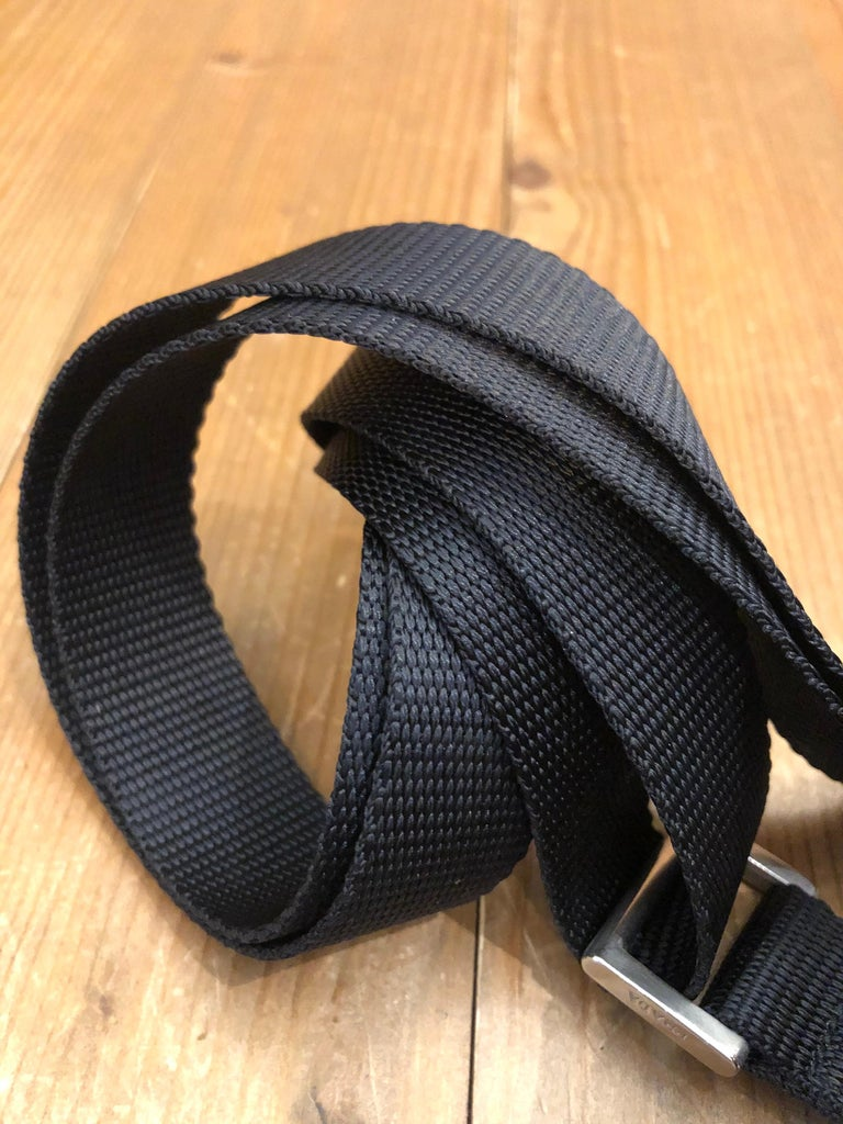 PRADA Black Tessuto Mini Crossbody Bag Unisex For Sale 2