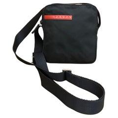 PRADA Black Tessuto Mini Crossbody Bag Unisex