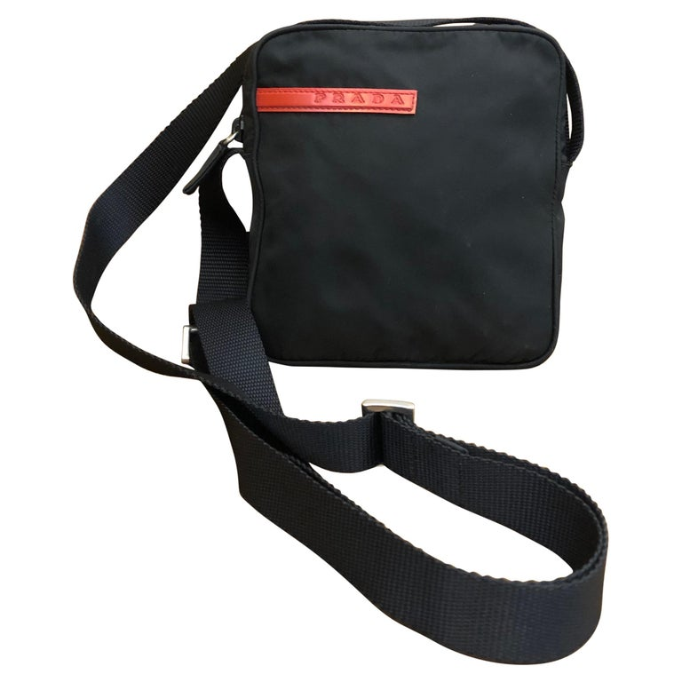 PRADA Black Tessuto Mini Crossbody Bag Unisex For Sale
