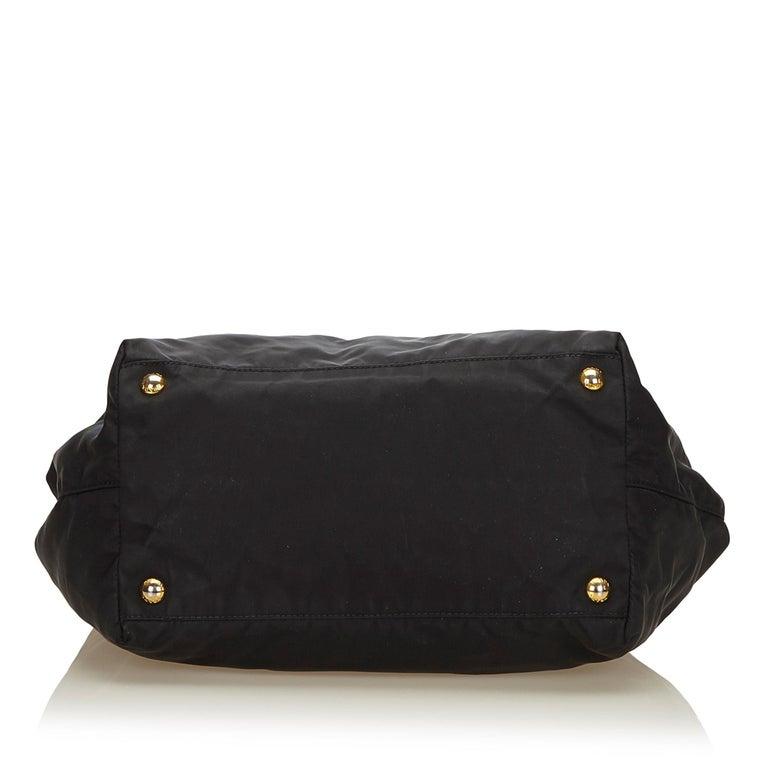 52ed942c6c0e Women's Prada Black Tessuto Nylon Bow Handbag For Sale