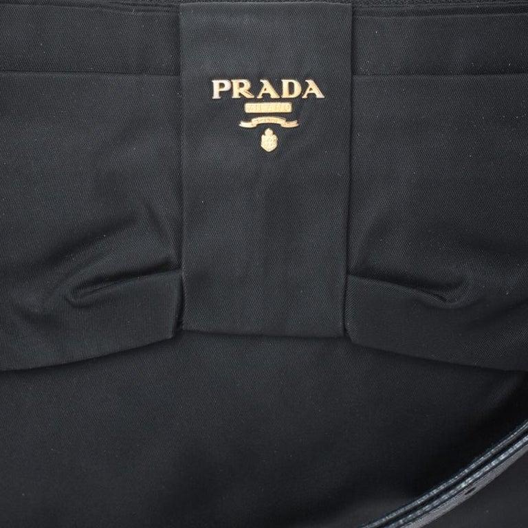Prada Black Tessuto Nylon Crossbody Bag For Sale 6