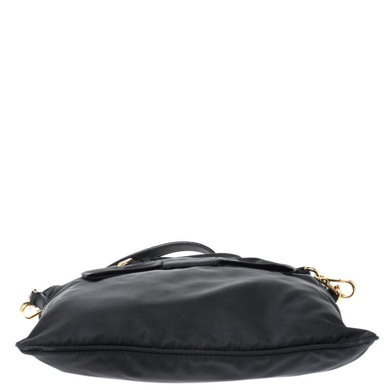 Prada Black Tessuto Nylon Crossbody Bag For Sale 1