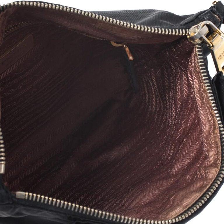Prada Black Tessuto Nylon Crossbody Bag For Sale 3