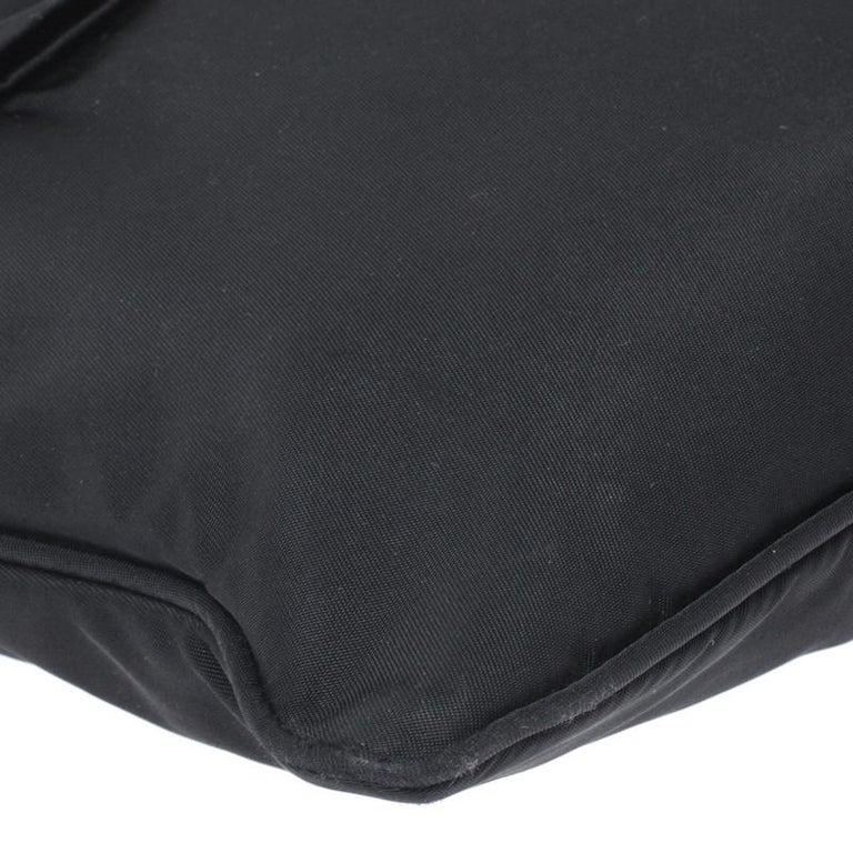 Prada Black Tessuto Nylon Crossbody Bag For Sale 4
