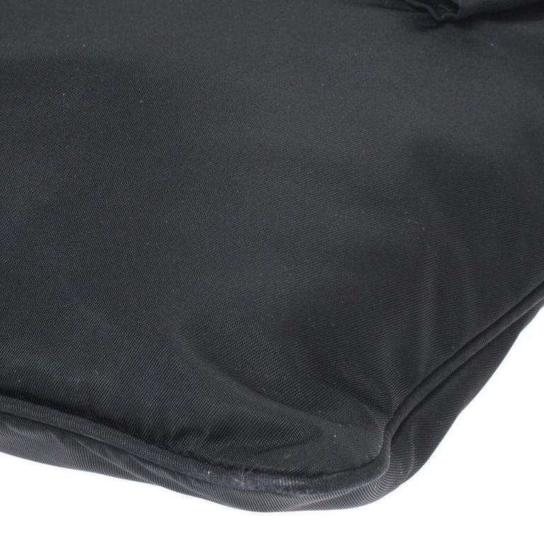 Prada Black Tessuto Nylon Crossbody Bag For Sale 5