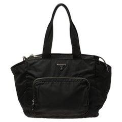 Prada Black Tessuto Nylon Diaper Bag