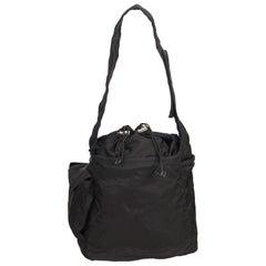 Prada Black Tessuto Nylon Drawstring Shoulder Bag