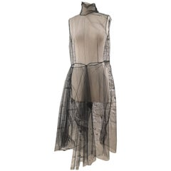 Prada black tulle dress
