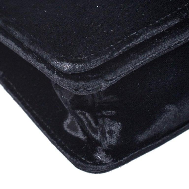 Prada Black Velvet Crossbody Bag For Sale 6