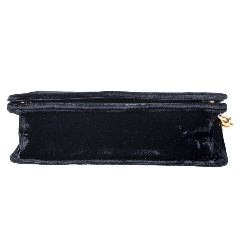 Prada Black Velvet Crossbody Bag For Sale 1