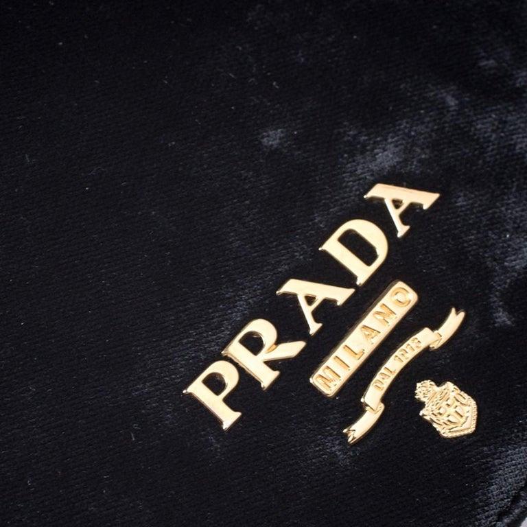 Prada Black Velvet Crossbody Bag For Sale 2