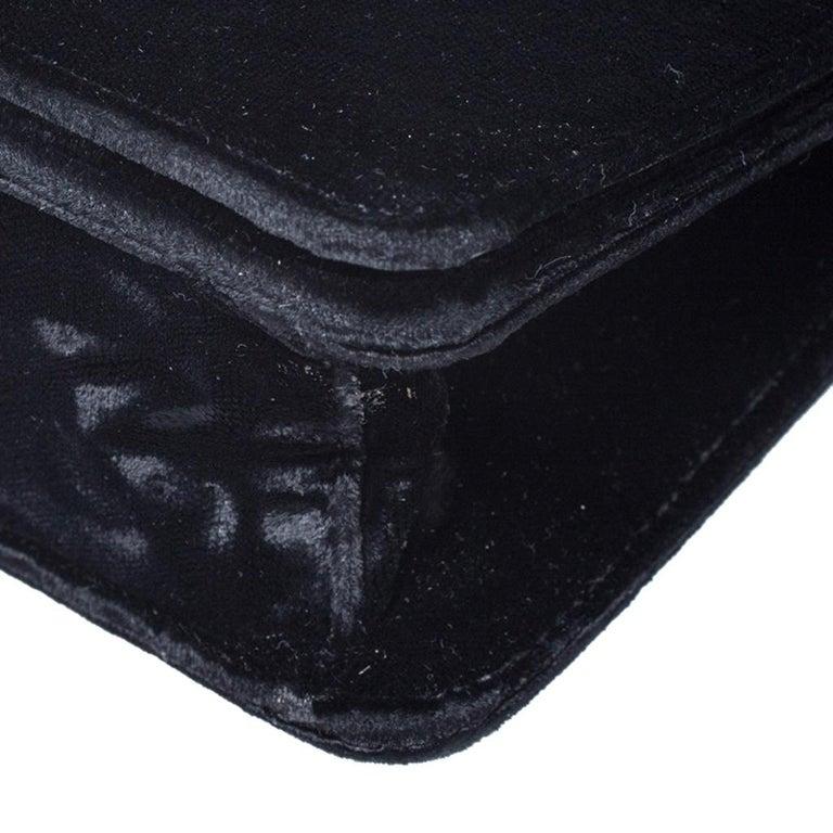 Prada Black Velvet Crossbody Bag For Sale 3