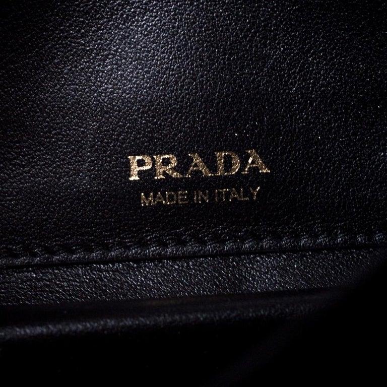 Prada Black Velvet Crossbody Bag For Sale 4