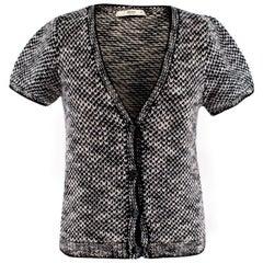 Prada Black & White Tweed Cardigan - Size US 6