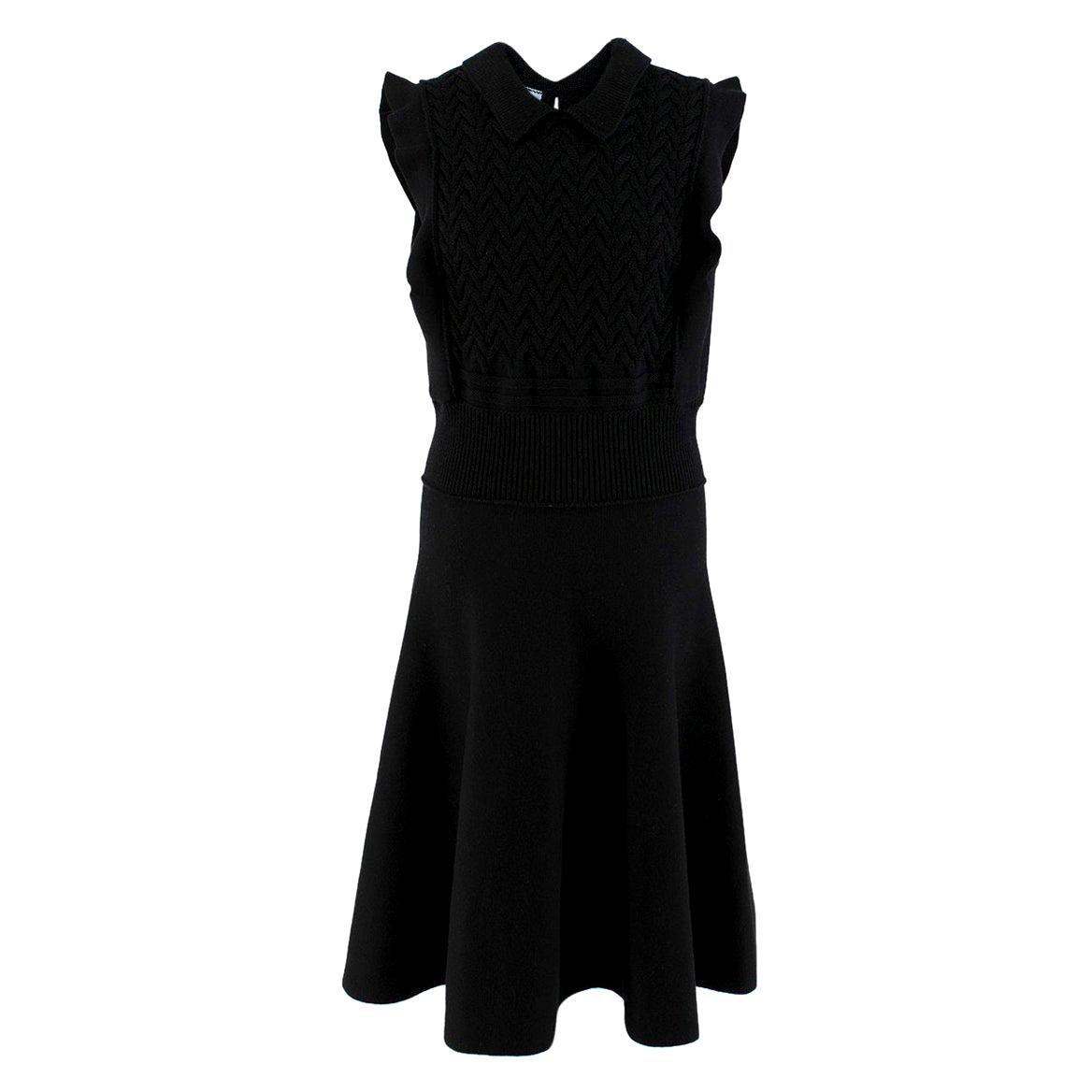 Prada Black Wool-blend Knit Dress - Size US 8