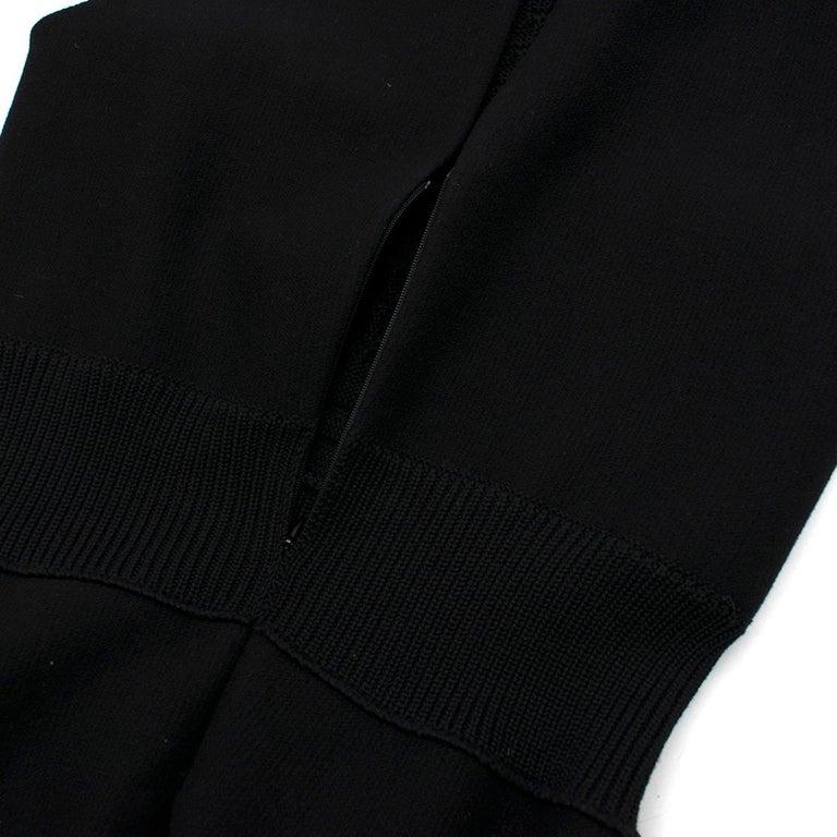 Prada Black Wool-blend Knit Dress US 8 For Sale 6
