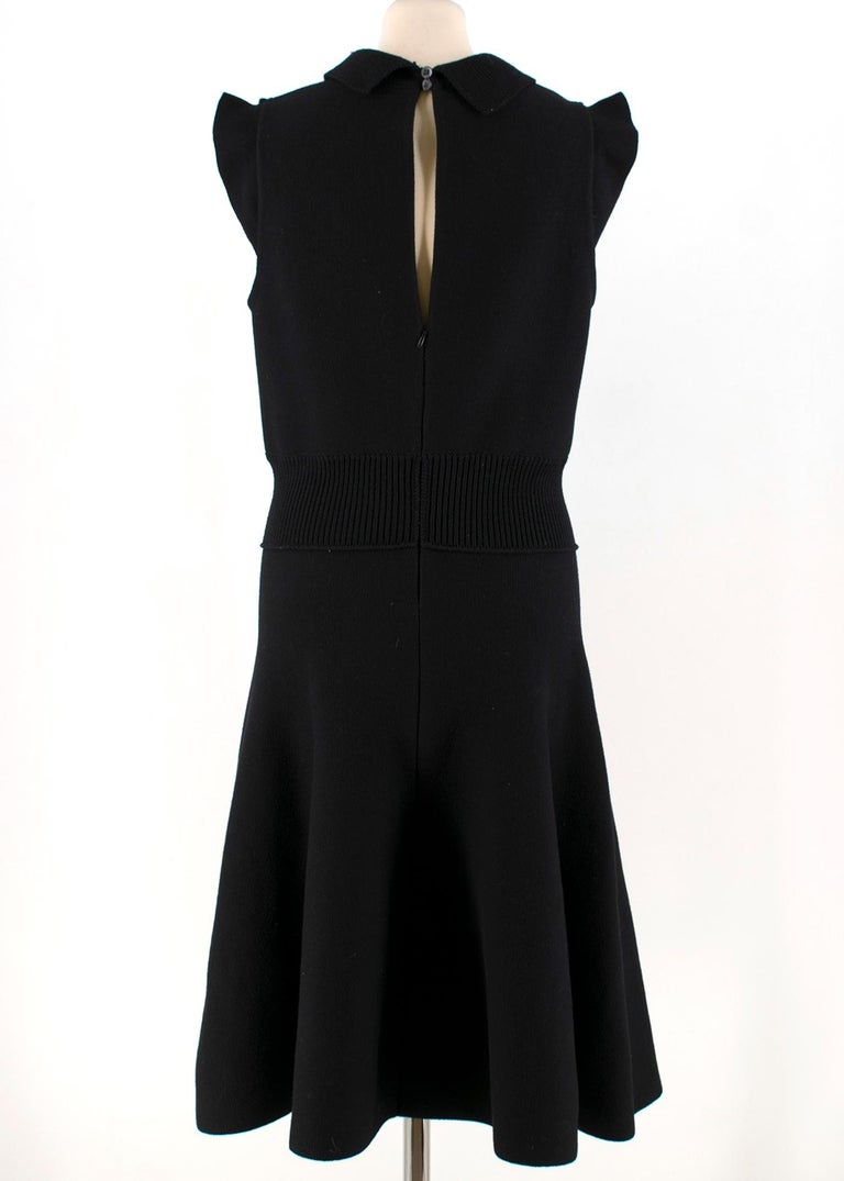 Prada Black Wool-blend Knit Dress US 8 In Good Condition For Sale In London, GB