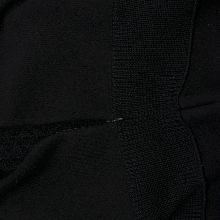 Women's Prada Black Wool-blend Knit Dress US 8 For Sale