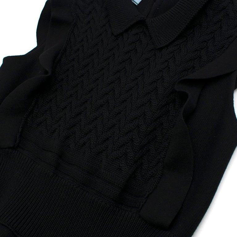 Prada Black Wool-blend Knit Dress US 8 For Sale 3