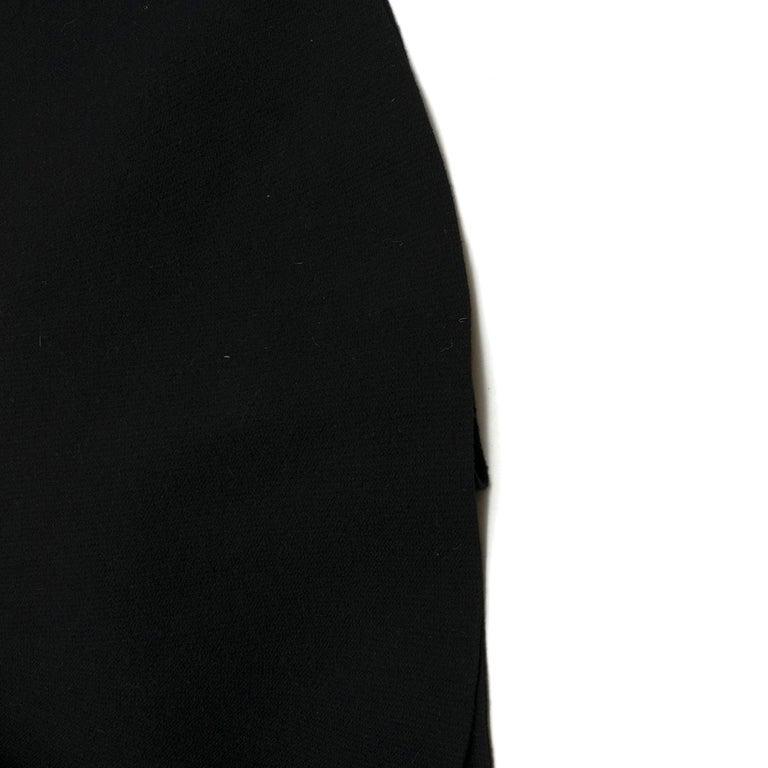 Prada Black Wool-blend Knit Dress US 8 For Sale 4