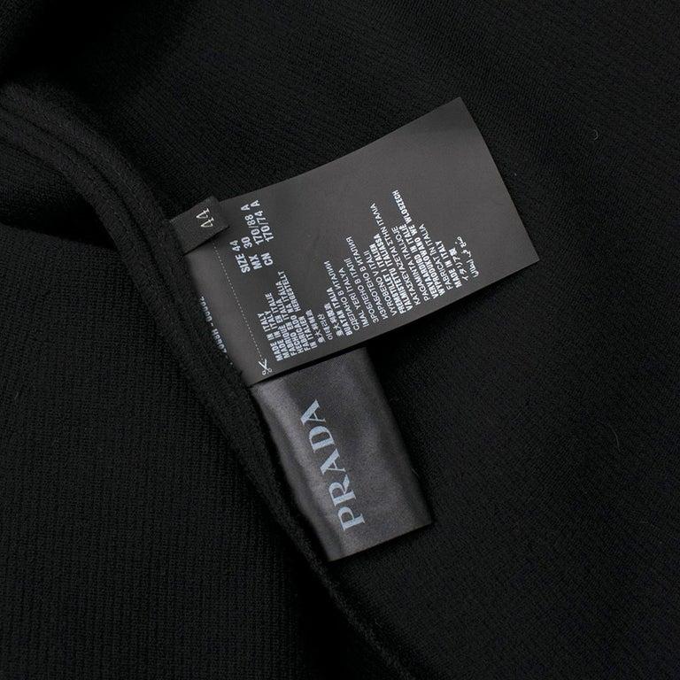 Prada Black Wool-blend Knit Dress US 8 For Sale 5