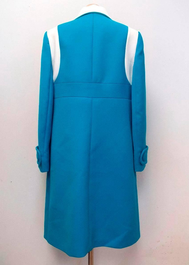 Women's Prada Blue and White Coat Size 10 For Sale