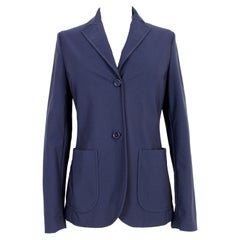 Prada Blue Classic Fitted Jacket