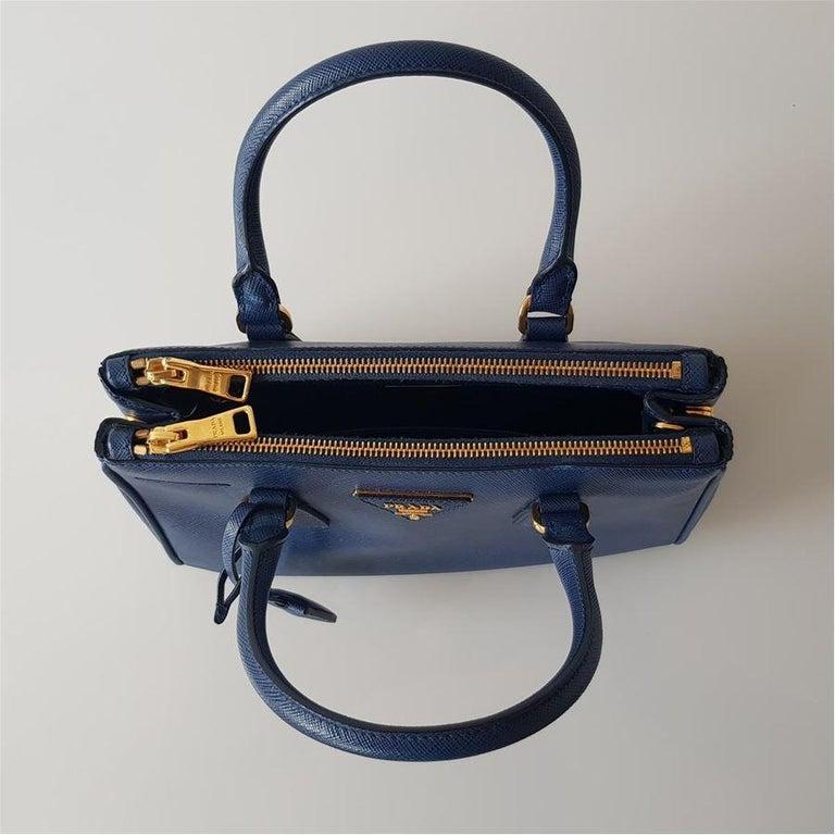Women's Prada Blue Galleria MIni Bag For Sale