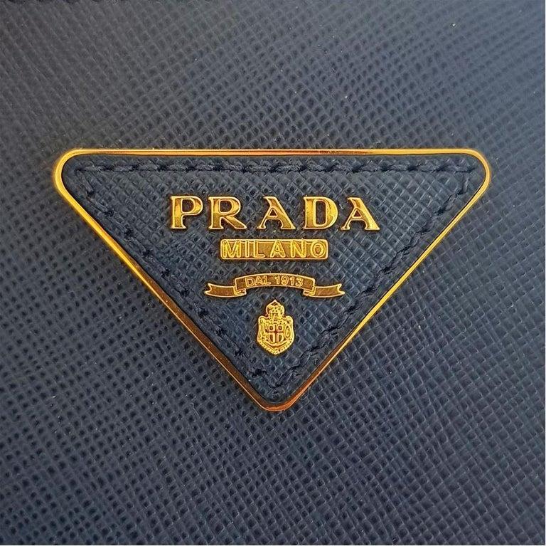 Prada Blue Galleria MIni Bag For Sale 2