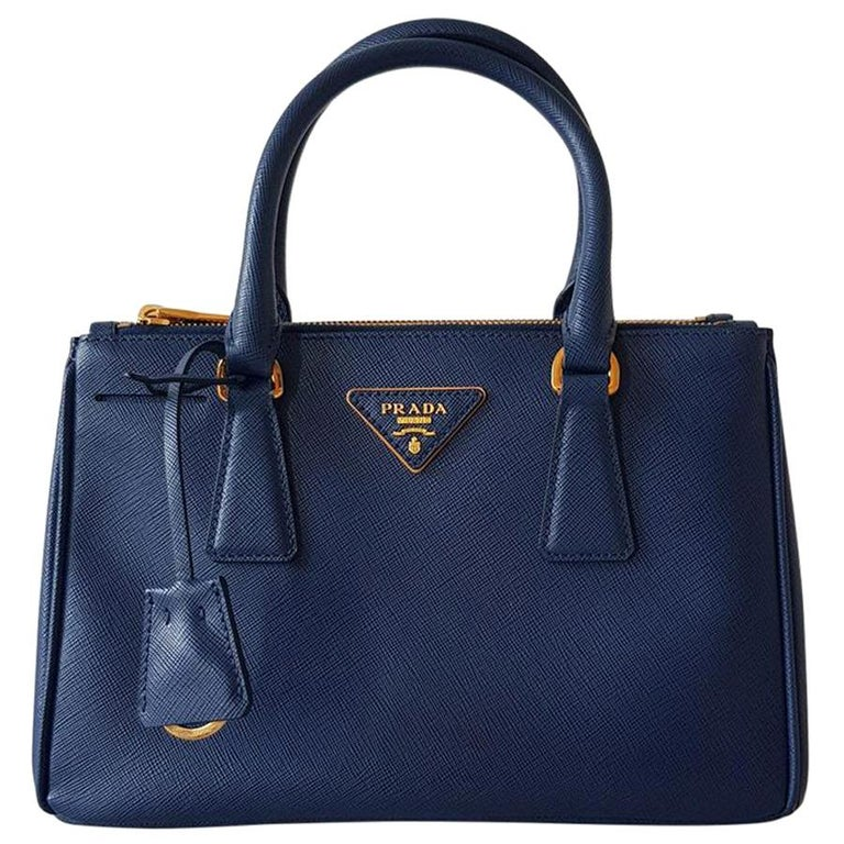 Prada Blue Galleria MIni Bag For Sale