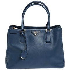 Prada Blue Saffiano Lux Leather Medium Galleria Tote