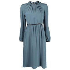 Prada Blue Silk Dress