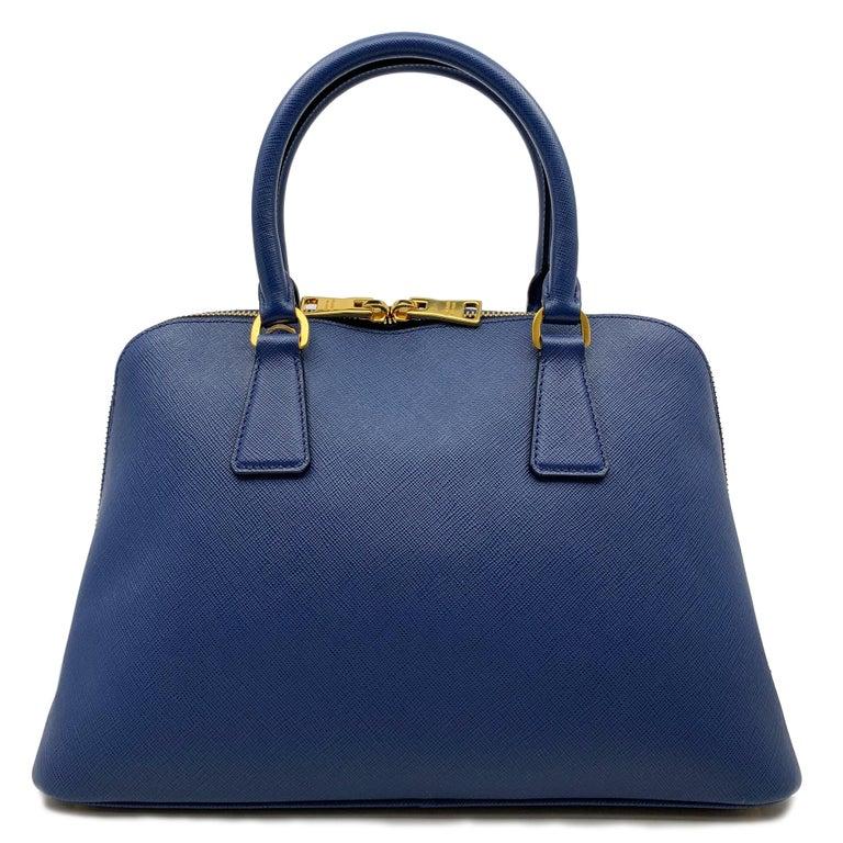 0edcd85062d4 Purple Prada Bluette Saffiano Lux Leather Promenade Satchel Bag 1BA837  F0016 For Sale