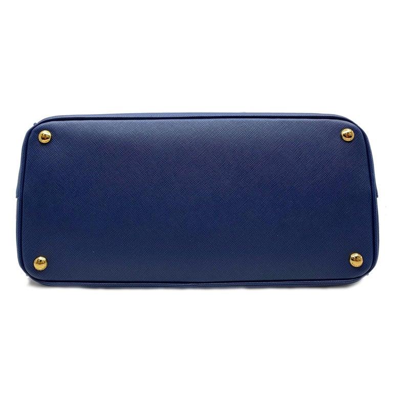 ffc98a64ed7e Women's Prada Bluette Saffiano Lux Leather Promenade Satchel Bag 1BA837  F0016 For Sale