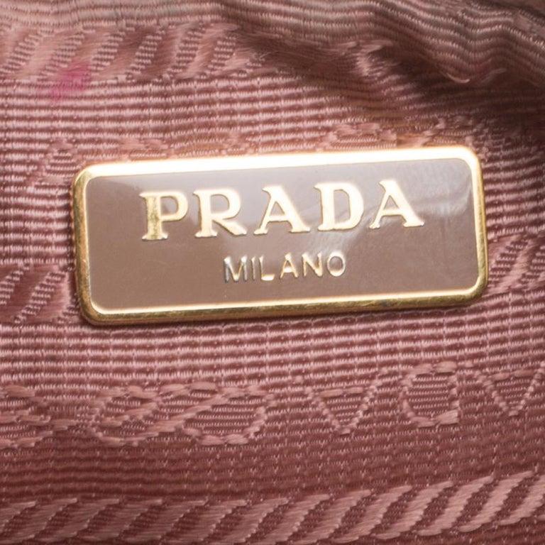 Prada Blush Pink Saffiano Lux Leather Camera Crossbody Bag 5