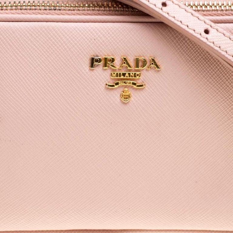 Prada Blush Pink Saffiano Lux Leather Camera Crossbody Bag 2