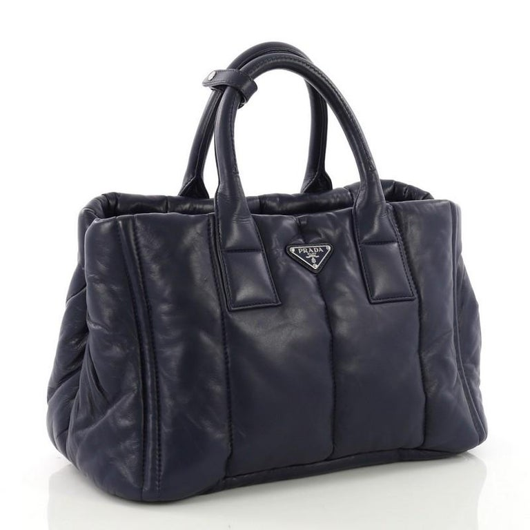 404e0f4371e532 Prada Bomber Convertible Tote Nappa Leather Medium For Sale at 1stdibs