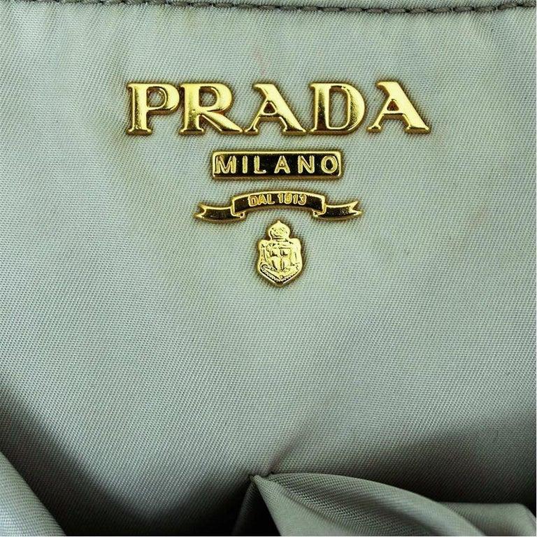 Gray Prada Bow Bag For Sale