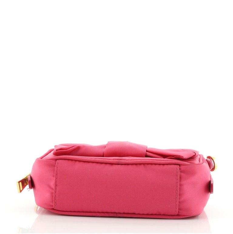 Women's or Men's Prada Bow Camera Crossbody Bag Tessuto Small