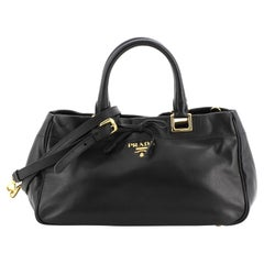 Prada Bow Convertible Satchel Leather Medium