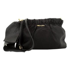 Prada Bow Crossbody Bag Tessuto With Leather Medium