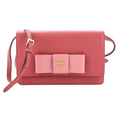 Prada Bow Wallet on Strap Saffiano Leather Small