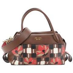 Prada Bowling Ribbon Bag Printed Leather