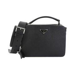 Prada Brique Crossbody Bag Saffiano Leather East West