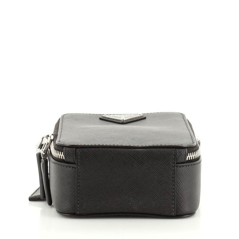 Women's or Men's Prada Brique Crossbody Bag Saffiano Leather Medium For Sale