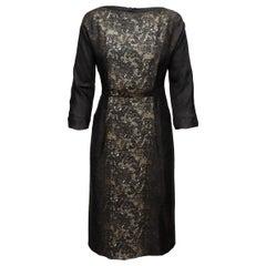 Prada Brown Fall/Winter 2008/2009 Lace Dress